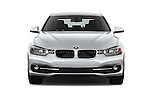 Car photography straight front view of a 2017 BMW 3-Series 330i 4 Door Sedan Front View