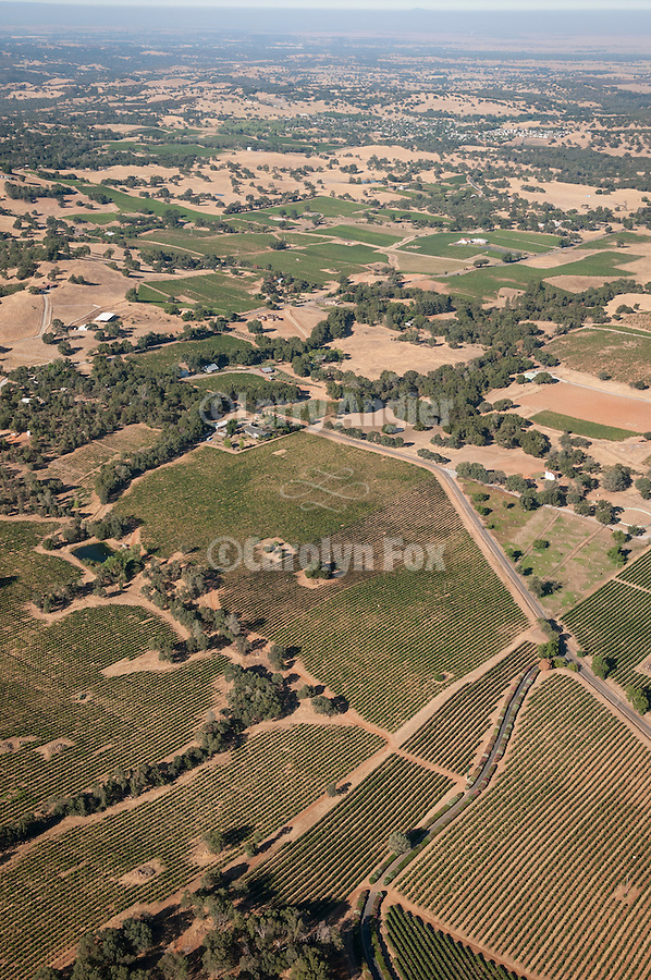 rural Amador County from the air