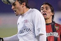The MetroStars  defeated the New England Revolution 1-0 in the  first leg of the MLS Eastern Conference Semifinals at Giant's Stadium, East Rutherford, NJ, on October 22, 2005.
