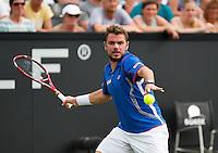 18-06-13, Netherlands, Rosmalen,  Autotron, Tennis, Topshelf Open 2013, Stanislas Wawrinka<br /> <br /> Photo: Henk Koster