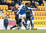 St Johnstone v Motherwell…07.04.18…  McDiarmid Park    SPFL<br />Matty Willock is fouled by Andy Rose<br />Picture by Graeme Hart. <br />Copyright Perthshire Picture Agency<br />Tel: 01738 623350  Mobile: 07990 594431
