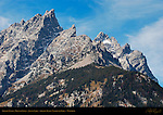 Grand Teton and Mount Owen, detail from Jenny Lake, Grand Teton National Park, Wyoming