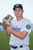 Pulaski Yankees pitcher Hayden Wesneski (71) poses for a photo prior to the game against the Danville Braves at Calfee Park on June 30, 2019 in Pulaski, Virginia. The Braves defeated the Yankees 8-5 in 10 innings.  (Brian Westerholt/Four Seam Images)