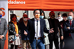 Ciudadanos (Cs) candidate for the presidency of the Community of Madrid, Edmundo Bal, during the visit to one of the information tents installed in the city of Madrid. March 28, 2021. (ALTERPHOTOS/Ciudadanos/Pool)