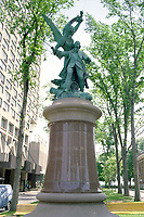 Undated  File photo - Montcalm statue in Quebec City