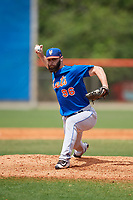 New York Mets pitcher Adam Atkins (96) during a Minor League Spring Training intrasquad game on March 29, 2018 at the First Data Field Complex in St. Lucie, Florida.  (Mike Janes/Four Seam Images)