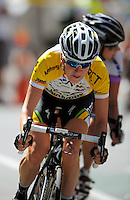 2011 champion Judith Arndt (Germany) of HTC Highroad Women.. NZCT Women's Cycling Tour of New Zealand Stage 6 - Criterium at Lambton Quay, Wellington, New Zealand on Sunday, 27 February 2011. Photo: Dave Lintott / lintottphoto.co.nz