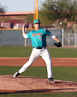 Victor Mederos takes part in the 2018 Under Armour Pre-Season All-America Tournament at the Chicago Cubs training complex on January 13-14, 2018 in Mesa, Arizona (Bill Mitchell)