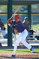 Christian Perez (11) of Pasadena High School in Pasadena, California during the Baseball Factory All-America Pre-Season Tournament, powered by Under Armour, on January 13, 2018 at Sloan Park Complex in Mesa, Arizona.  (Art Foxall/Four Seam Images)