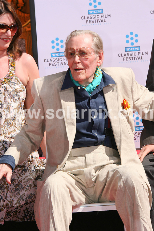 **ALL ROUND PICTURES FROM SOLARPIX.COM**                                             **SYNDICATION RIGHTS FOR UK, AUSTRALIA, DENMARK, PORTUGAL, S. AFRICA, SPAIN & DUBAI (U.A.E) & ASIA (EXCLUDING JAPAN) ONLY**                                                                                  Caption:  British actor Peter O'Toole Hand and Footprint Ceremony at Grauman's Chinese Theatre in Hollywood on April 30, 2011 - Grauman's Chinese Theatre - Hollywood, CA, USA                                                                               This pic: Peter O'Toole                                                                                              JOB REF:        PHZ /Evans      DATE:                                                            **MUST CREDIT SOLARPIX.COM OR DOUBLE FEE WILL BE CHARGED**                                                                      **MUST AGREE FEE BEFORE ONLINE USAGE**                               **CALL US ON: +34 952 811 768 or LOW RATE FROM UK 0844 617 7637**