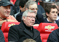 Pictured: Sir Alex Ferguson. <br /> Sunday 12 May 2013<br /> Re: Barclay's Premier League, Manchester City FC v Swansea City FC at the Old Trafford Stadium, Manchester.