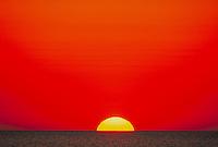 Sunrise at sea. Gulf of Mexico. Houston Texas.