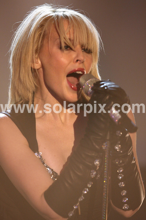 **ALL ROUND PICTURES FROM SOLARPIX.COM**.**SYNDICATION RIGHTS FOR UK AND SPAIN ONLY**.guests on the TV show 'Wetten, dass ..?' (I bet) in Graz, Austria. 8th December 2007..This pic: Kylie Minogue..JOB REF: 5475 CPR        DATE: 08_12_2007.**MUST CREDIT SOLARPIX.COM OR DOUBLE FEE WILL BE CHARGED* *UNDER NO CIRCUMSTANCES IS THIS IMAGE TO BE REPRODUCED FOR ANY ONLINE EDITION WITHOUT PRIOR PERMISSION*