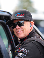 Oct 4, 2020; Madison, Illinois, USA; NHRA funny car driver Paul Lee during the Midwest Nationals at World Wide Technology Raceway. Mandatory Credit: Mark J. Rebilas-USA TODAY Sports
