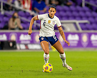 ORLANDO, FL - JANUARY 18: Lynn Williams #6 of the USWNT dribbles during a game between Colombia and USWNT at Exploria Stadium on January 18, 2021 in Orlando, Florida.
