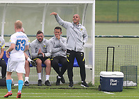 Chelsea U19 Head Coach, Andy Myers during Chelsea Under-19 vs FC Zenit Under-19, UEFA Youth League Football at Cobham Training Ground on 14th September 2021