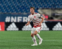 FOXBOROUGH, MA - AUGUST 21: Ian Antley #2 of Richmond Kickers during a game between Richmond Kickers and New England Revolution II at Gillette Stadium on August 21, 2020 in Foxborough, Massachusetts.