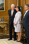 Minister of Foreign Affairs and Cooperation, José García-Margallo attends to reception of the president of the republic of Perú, Sr. Ollanta Humala Tasso, y Sra. Nadine Heredia Alarcón at Zarzuela Palace in Madrid, Spain. July 07, 2015.<br />  (ALTERPHOTOS/BorjaB.Hojas)