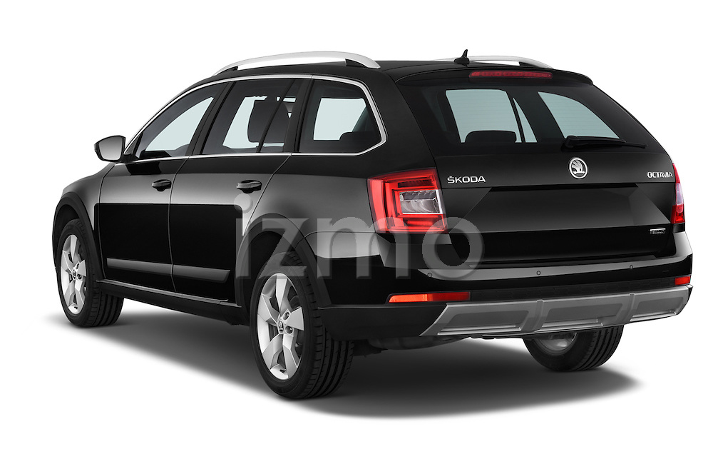 Car pictures of rear three quarter view of a 2015 Skoda Octavia Scout 5 Door Wagon Angular Rear