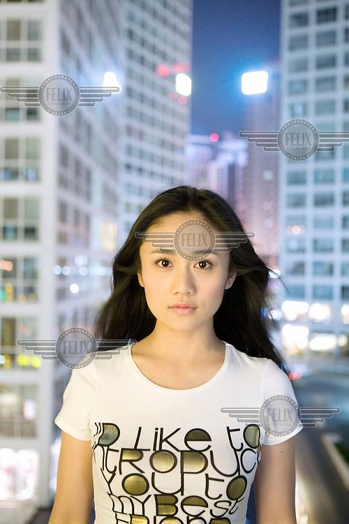 Liu Yun, a 23 year old actress based in Beijing.