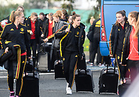 20190304 - LARNACA , CYPRUS :  Belgian Chloe Vande Velde pictured before a women's soccer game between Nigeria and the Belgian Red Flames , on Monday 4 th March 2019 at the GSZ Stadium in Larnaca , Cyprus . This is the third and last game in group C for both teams during the Cyprus Womens Cup 2019 , a prestigious women soccer tournament as a preparation on the Uefa Women's Euro 2021 qualification duels. PHOTO SPORTPIX.BE | DAVID CATRY