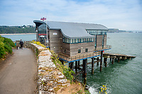 View of Tenby Lifeboat Station, Tenby, Pembrokeshire, Wales, UK