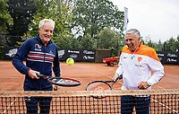 Oldenzaal, Netherlands, August 15, 2019, TC Ready, Old Stars Program, Tom Okker  (NED) and Sjaak Swart (NED) (R)<br /> Photo: Tennisimages/Henk Koster