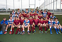 Saint Kentigern College winners with runners-up Kings College - during the Division A Boys Final, between Saint Kentigern College and Kings College, during Upper North Island Secondary School Hockey Championship, North Harbour Hockey, North Shore, Auckland . Friday 9 October 2020 Photo: Brett Phibbs / www.bwmedia.co.nz / Hockey New Zealand