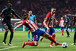 Filipe Luis of Atletico de Madrid in action during the UEFA Champions League 2017-18 match between Atletico de Madrid and Chelsea FC at the Wanda Metropolitano on 27 September 2017, in Madrid, Spain. Photo by Diego Gonzalez / Power Sport Images