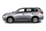Car driver side profile view of a 2019 Mitsubishi Outlander PHEV Instyle 5 Door SUV