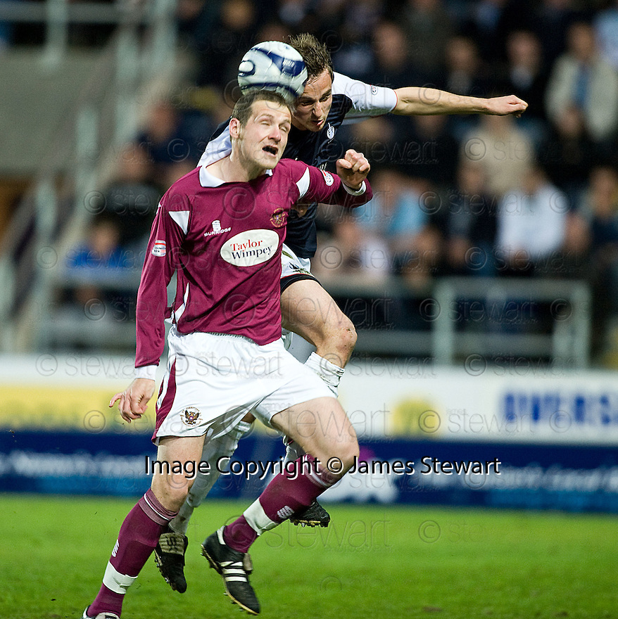 05/05/2010   Copyright  Pic : James Stewart.sct_js012_falkirk_v_st_johnstone  .::  KENNY DEUCHAR AND MARC TWADDLE CHALLENGE ::  .James Stewart Photography 19 Carronlea Drive, Falkirk. FK2 8DN      Vat Reg No. 607 6932 25.Telephone      : +44 (0)1324 570291 .Mobile              : +44 (0)7721 416997.E-mail  :  jim@jspa.co.uk.If you require further information then contact Jim Stewart on any of the numbers above.........