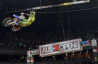 Chad Reed / Yamaha  1st Overall<br /> 2015 Round 5 / Class : SX1<br /> Australian Supercross Championship / AUS-X Open<br /> Sydney NSW Saturday 28 November 2015<br /> © Sport the library / Jeff Crow
