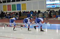 SPEEDSKATING: 14-02-2020, Utah Olympic Oval, ISU World Single Distances Speed Skating Championship, Team Pursuit Ladies, Team Russia (RUS), ©Martin de Jong