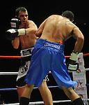 Jeff Evans (Black Shorts) V Jamie Ambler (Blue Shorts)..Joe Calzaghe Promotions Boxing Evening .Date: Friday 20/11/2009,  .© Ian Cook IJC Photography, 07599826381, iancook@ijcphotography.co.uk,  www.ijcphotography.co.uk, .