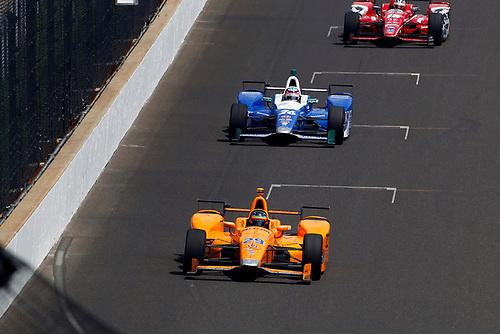 Verizon IndyCar Series<br /> Indianapolis 500 Carb Day<br /> Indianapolis Motor Speedway, Indianapolis, IN USA<br /> Friday 26 May 2017<br /> Fernando Alonso, McLaren-Honda-Andretti Honda<br /> World Copyright: Phillip Abbott<br /> LAT Images<br /> ref: Digital Image abbott_indy_0517_27881