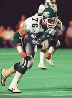 Rick Mohr Saskatchewan Roughriders 1983. Photo F. Scott Grant