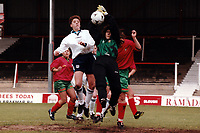 Kerry Davis of England in action during England Women vs Portugal Women, European Championship Qualifying Football at Griffin Park, Brentford FC on 19th May 1996