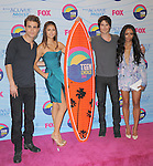Paul Wesley , Nina Dobrev , Ian Somerhalder  and Kat Graham at FOX's 2012 Teen Choice Awards held at The Gibson Ampitheatre in Universal City, California on July 22,2012                                                                               © 2012 Hollywood Press Agency