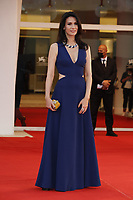 """VENICE, ITALY - SEPTEMBER 10: Marie Drucker on the red carpet for the movie """"Un Autre Monde"""" during the 78th Venice International Film Festival on September 10, 2021 in Venice, Italy.<br /> CAP/GOL<br /> ©GOL/Capital Pictures"""