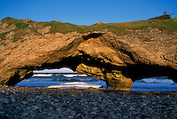 Newfoundland and Labrador, Canada - The Arches at Arches Provincial Park - Sea Wave Erosion along The Viking Trail (Highway 430), Northern Peninsula, Western Region