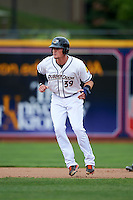 Akron RubberDucks outfielder Jordan Smith (39) leads off second during a game against the New Britain Rock Cats on May 21, 2015 at Canal Park in Akron, Ohio.  Akron defeated New Britain 4-2.  (Mike Janes/Four Seam Images)