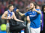 St Johnstone v Aberdeen...13.04.14    William Hill Scottish Cup Semi-Final, Ibrox<br /> Stevie May celebrates at full time<br /> Picture by Graeme Hart.<br /> Copyright Perthshire Picture Agency<br /> Tel: 01738 623350  Mobile: 07990 594431