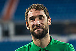 Goalkeeper Dani Gimenez of Real Betis prior to the La Liga 2017-18 match between Real Madrid and Real Betis at Estadio Santiago Bernabeu on 20 September 2017 in Madrid, Spain. Photo by Diego Gonzalez / Power Sport Images