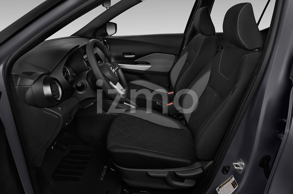 Front seat view of a 2019 Nissan Kicks SV 5 Door SUV front seat car photos
