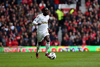 Pictured: Nathan Dyer. <br /> Sunday 12 May 2013<br /> Re: Barclay's Premier League, Manchester City FC v Swansea City FC at the Old Trafford Stadium, Manchester.