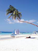 Beach scene at Boracay Island