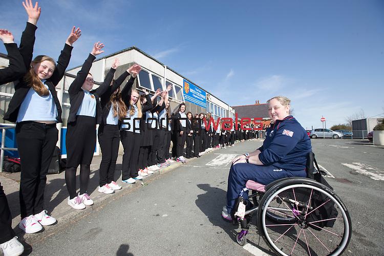 Sport Your Trainers Day at Bryn Celynnog School.<br /> <br /> 10.03.14<br /> <br /> ©Steve Pope-SPORTINGWALES