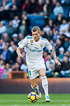 Toni Kroos of Real Madrid in action during the La Liga 2017-18 match between Real Madrid and RC Deportivo La Coruna at Santiago Bernabeu Stadium on January 21 2018 in Madrid, Spain. Photo by Diego Gonzalez / Power Sport Images