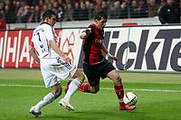 Lucio (Bayern) im Zweikampf mit Martin Fenin (Eintracht)<br /> Eintracht Frankfurt vs. FC Bayern Muenchen, Commerzbank Arena<br /> *** Local Caption *** Foto ist honorarpflichtig! zzgl. gesetzl. MwSt. Auf Anfrage in hoeherer Qualitaet/Aufloesung. Belegexemplar an: Marc Schueler, Am Ziegelfalltor 4, 64625 Bensheim, Tel. +49 (0) 6251 86 96 134, www.gameday-mediaservices.de. Email: marc.schueler@gameday-mediaservices.de, Bankverbindung: Volksbank Bergstrasse, Kto.: 151297, BLZ: 50960101