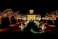 Each December, the Daniel Stowe Botanical Garden transforms itself into a popular holiday destination with Holiday Lights at the Garden. More than 600,000 lights bring the garden, dormant for winter, back to life. The feature is a 16-foot-tall Orchid Tree with more than 300 glowing orchids.